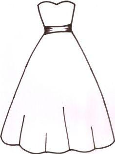 6 paper dress cutout templates for 8 Disney princess