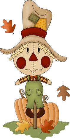 primitive scarecrow clip art