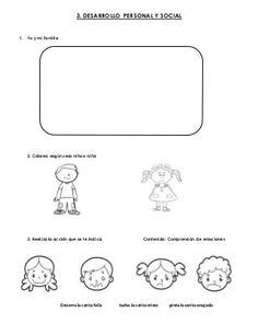 Examen final para primero de preescolar (opción 1