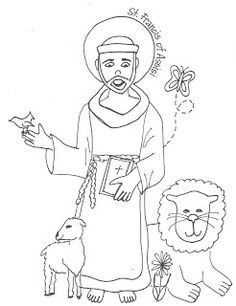 Coloring pages, Saint francis and Coloring on Pinterest