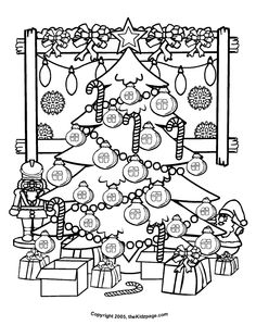 Printable DIY Zendoodle Christmas Tree card 5x7 pdf from