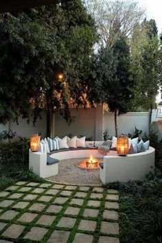 Small Gardens Fire Pit Google Search Sauna Pinterest