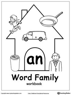 AT Word Family Workbook for Kindergarten: Our AT Word