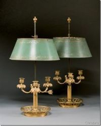 French Empire lighting bouillotte lamp bronze dore ...