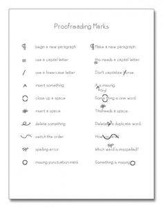 Proofreading Practice: Punctuation and Spelling