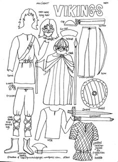 Viking ship pattern. Use the printable outline for crafts