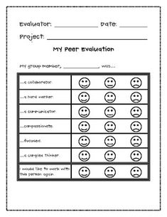 Group project evaluation form