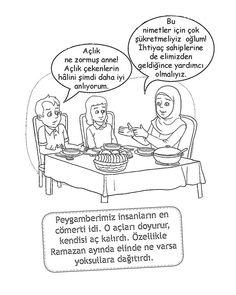 Muslim Family praying before eating. (Dua). Great for