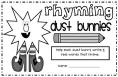 1000+ images about Rhyming dust bunnies on Pinterest