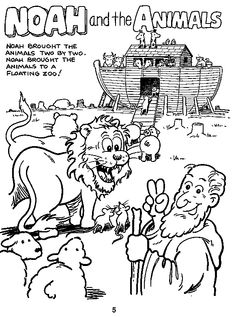 Noah ark, Coloring and Coloring pages on Pinterest