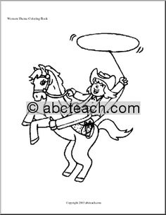 FREE PRINTABLE RODEO COLORING PAGES BY DANCING COWGIRL