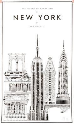 New York City Skyline, NYC, Empire State, Chrystler
