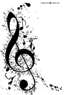 Music Notes Flowers Wall Art Decals Wall Stickers