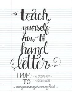 Brush lettering, Awesome and Calligraphy on Pinterest