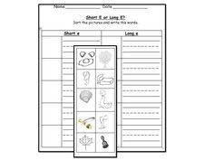 Long U vowel sound literacy center activities & worksheets