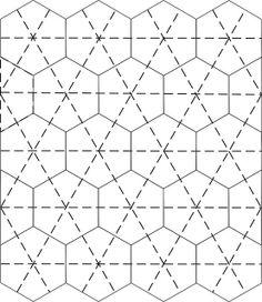 Template for a One Block Wonder Quilt. A basic hexagon