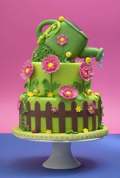 Gardening Cake Art How Awesome Is This?! It's So Pretty I Would