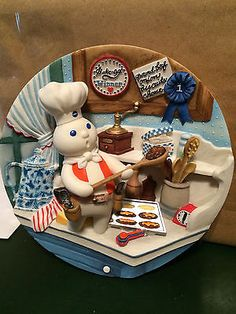 Image result for photo pillsbury doughboy poppin fresh barbecups commemorative plate