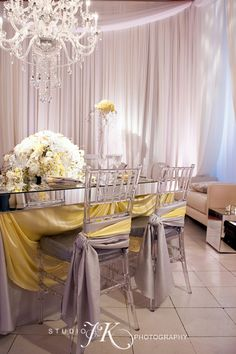 elegant chair covers and wedding decor a medic custom made mirror top table complete with ghost chiavari chairs
