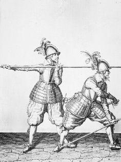 16th-17th century musketeer illustrations from De Gheyn