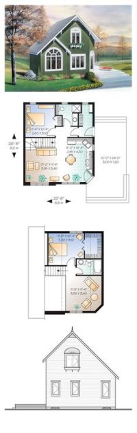 12 x 16 House - 12 x 24 cabin floor plans | Tiny House ...