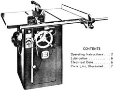 OLIVER 51-A Wood Lathe Instructions and Parts Manual