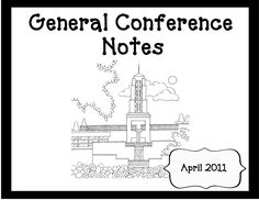 1000+ images about General Conference Packets on Pinterest