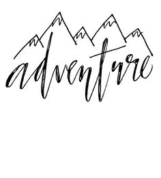 Mountain range pattern. Use the printable outline for