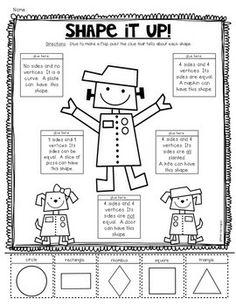 2D {Plane} Shapes Printables for Kindergarten Common Core