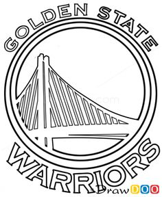 Golden State Warriors basketball coloring page: Golden