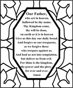 1000+ images about Free printable Lord's Prayer coloring