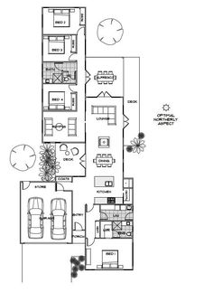 Small House Design with open floor plan. Efficient room