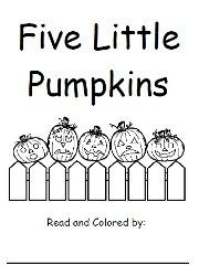 I'm a Little Pumpkin poem & copy work! Created for PreK