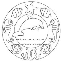 Dolphins And Sea Stars Mandala Coloring Pages Coloring