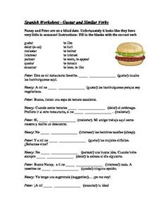 Spanish Worksheet Gustar + Infinitive By Jerry's Spanish Games And More
