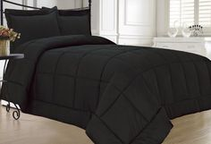 Twin Red Grey Black Microsuede Stripe Comforter Bedding