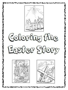 Free, printable Easter Colouring Book Pages, including