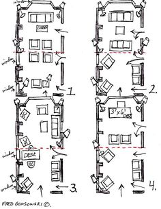 1000+ images about Interior Sketches: Floor Plans