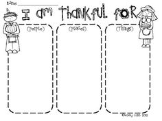 Thanksgiving writing, I am thankful for and Thanksgiving