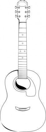 Banjo pattern. Use the printable outline for crafts