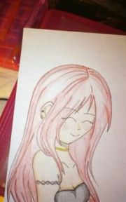 anime girl crying sry sideways