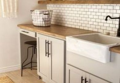 Navy Blue Laundry Room Cabinets Design Ideas Decorpad