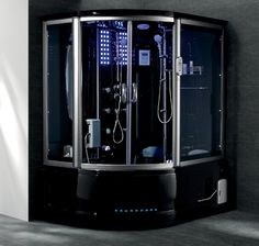 Gemini Steam Shower Whirlpool Tub Combo With LCD TV TVs Bathing And I Want