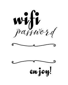 Free Printable Wi-fi password 8x10