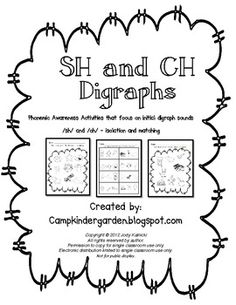 Sh digraphs Repinned by Speech, Language, Literacy Lab