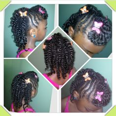 Creative Natural Hairstyles For Kids Two Strand Twists Twists