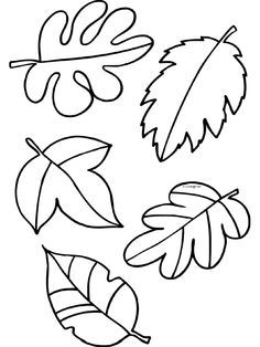 Print leaf template onto colored 8x10 card stock. Use the