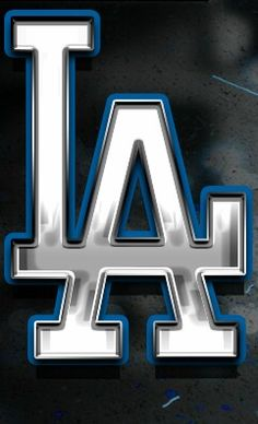 Los Angeles Dodgers Logo Interlocking LA In Blue