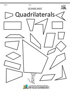 Give flow chart of quadrilaterals to geometry students