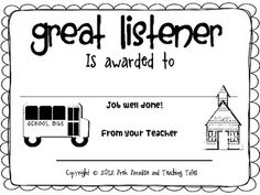 A fun, colorful certificate to be presented to a child who
